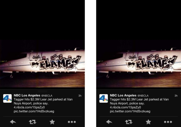 Tagger Hits Learjet